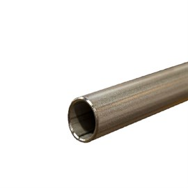 Acid resistant threaded round steel pipe